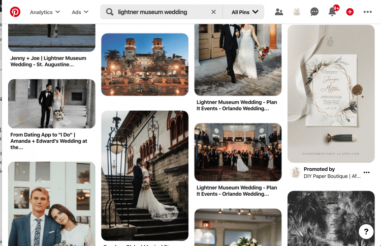 Virtual Wedding Planning Guide | Create an Inspiration Board on Pinterest or Instagram