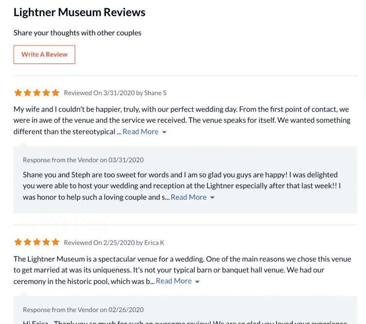 Wedding Venue Reviews on The Knot