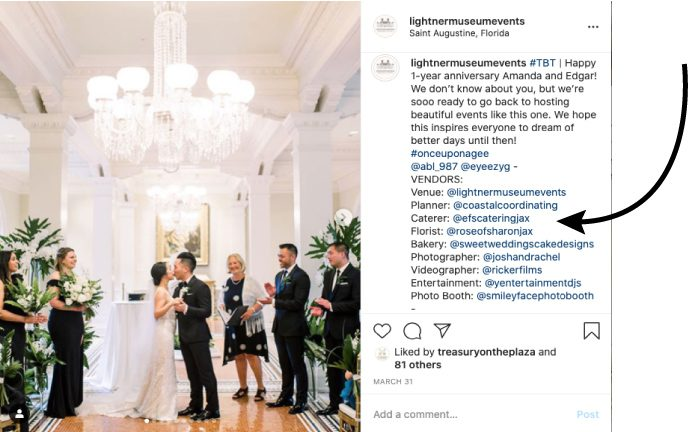 Virtual Wedding Planning Guide From the Lightner Museum | Vendors Tagged on Instagram