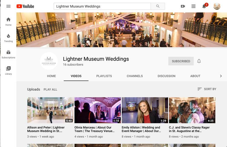 Virtual Wedding Planning Guide From the Lightner Museum | Watch YouTube Videos