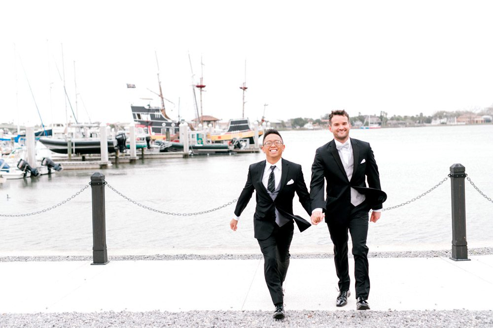 Wedding Photos in St. Augustine | Carlson and Paul's wedding at the Lightner Museum in St. Augustine | LGBTQ friendly wedding venues in Florida
