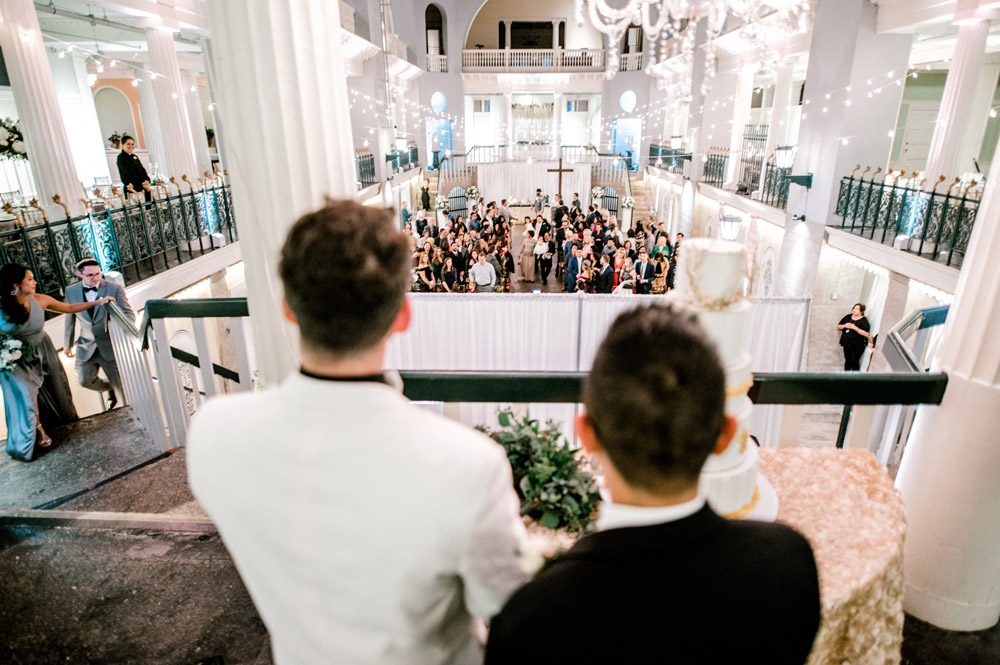 Wedding Ceremony | Carlson and Paul's wedding at the Lightner Museum in St. Augustine | LGBTQ friendly wedding venues in Florida