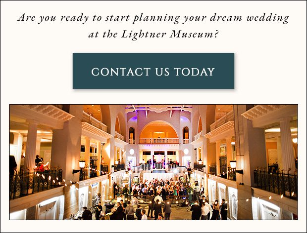 Contact the Lightner Museum wedding venue to plan your dream wedding