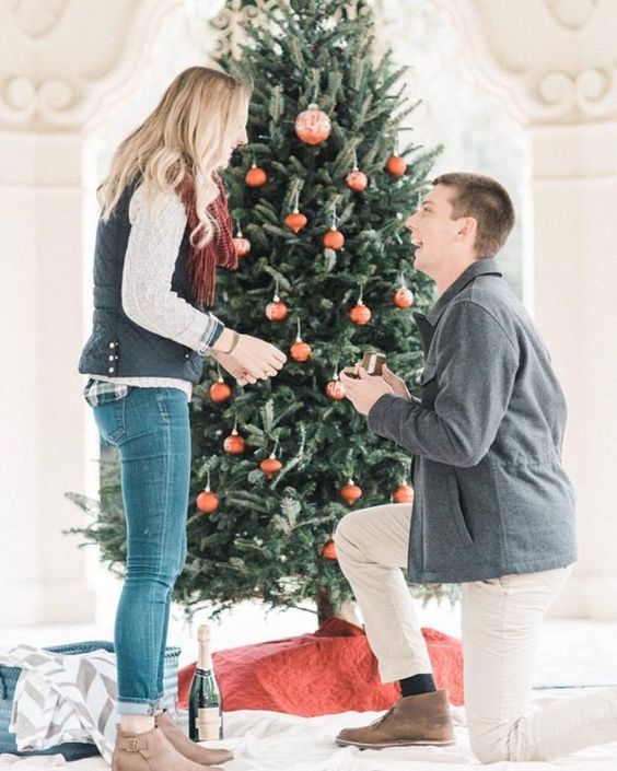 At Home Holiday proposal Ideas