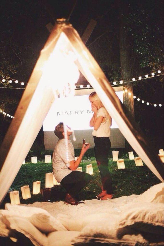 Outdoor Movie Night Proposal